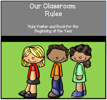 Classroom Rules Poster & Matching Class Book- Print & Make