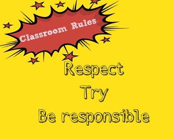 Classroom Rules Poster and Instructions