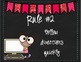 Classroom Rules Posters (Chalkboard and Pennant Banners)
