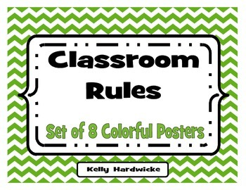 Classroom Rules Posters- Chevron and Colorful