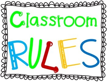 Classroom Rules Posters FREEBIE