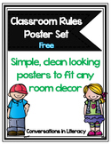 Classroom Rules Posters Free