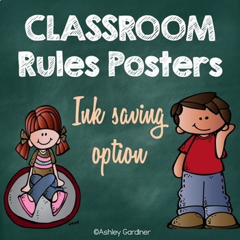 Classroom Rules Posters {Ink Saver}