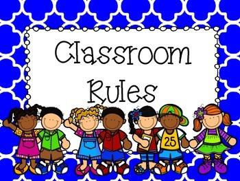 Classroom Rules Posters - Rainbow, Quatrafoil