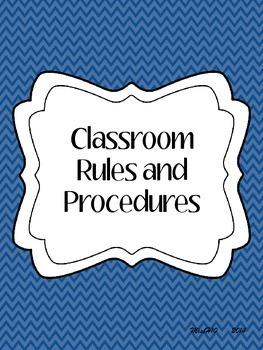 Classroom Rules & Procedures Packet
