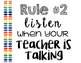 Classroom Rules (Rainbow Watercolor)