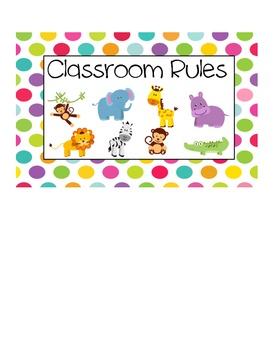 Classroom Rules Signs