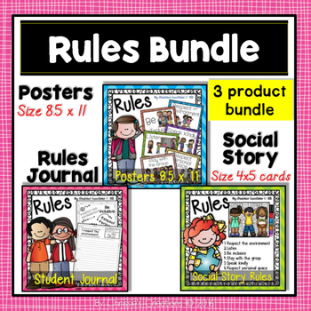 Classroom Rules, Social Story, and Student Journal: The Bundle