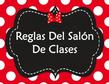 Classroom Rules Spanish - Reglas del Salon (Editable Templates)