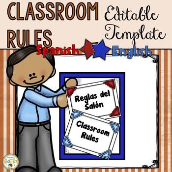Classroom Rules Template English/Spanish ***EDITABLE***