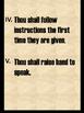 Classroom Rules (Ten Commandments)