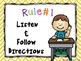 Classroom Rules Yellow Chevron Theme