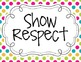 Classroom Rules and Expectations {Multi Colored Polka Dot}