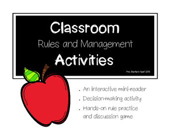 Classroom Rules and Managment Activities