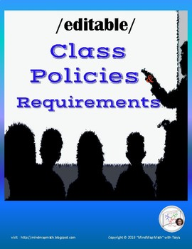 Class Contract Classroom Rules and Policy  {EDITABLE} stud