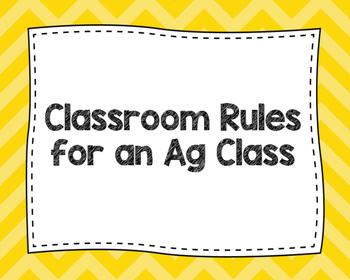 Classroom Rules for An Ag Class