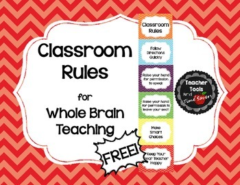 Whole Brain Teaching Classroom Rules - FREE! - Cute Chevrons