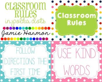 Classroom Rules (in Polka Dots)