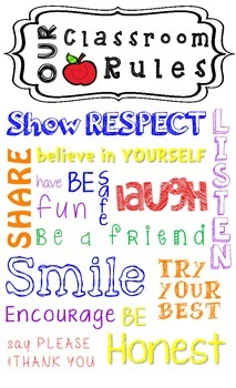 Classroom Rules poster- beginning of the year