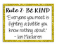 Classroom Rules with Quotes Gold Theme