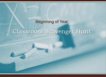 Classroom Scavenger Hunt for Beginning of Year