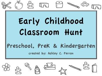 Preschool Classroom Scavenger Hunts