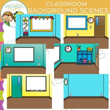 Classroom Scene Backgrounds Clip Art