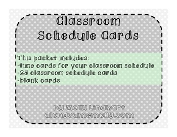 Classroom Schedule Cards - Editable Version Available!
