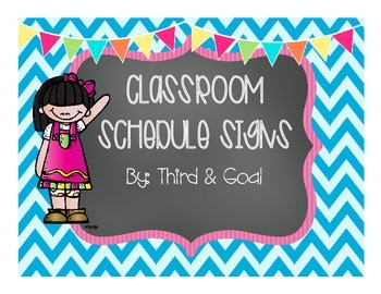 Classroom Schedule Cards or Signs