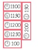 Classroom Schedule Picture Cards with Clocks