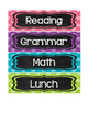Classroom Schedule in Polka Dots and Chalkboard