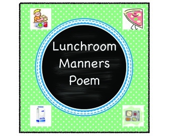 Classroom School Cafeteria Manners Lunch Poem Back to Scho