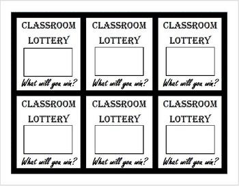 Classroom Scratch Off Lottery Tickets Template, diy scratc