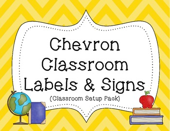 Classroom Set Up / Start Up Pack {Colorful Chevron Theme}