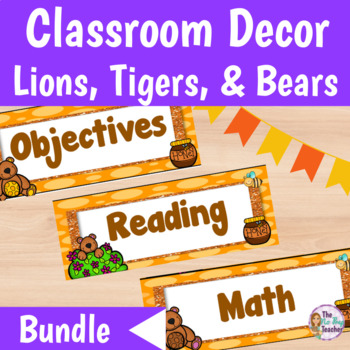 Classroom Decor Bundle Lions, Tigers and Bears