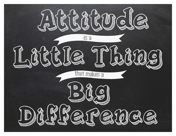 Classroom Sign~Attitude is a little Thing that makes a Big