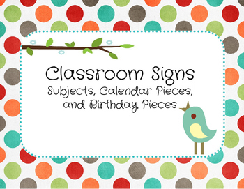Classroom Signs and Labels