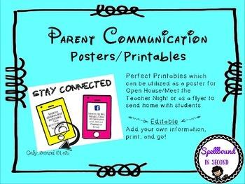 Parent Communication Posters/Printables