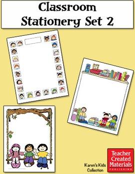 Classroom Stationery Set 2 by Karen's Kids (Digital Download)