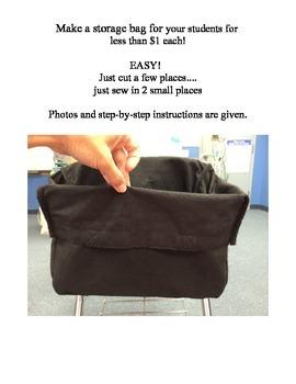 Classroom Storage Idea (Student Desk Storage Bags) Less th