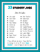 Classroom Student Jobs Clip Chart (Arctic Animals Version)