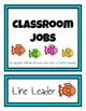 Classroom Student Jobs Clip Chart (Fish Version)