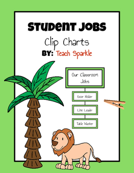 Classroom Student Jobs Clip Chart (Jungle Version)