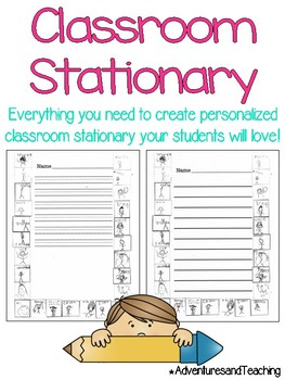 Classroom Student Portraits Stationary {Writing Paper}