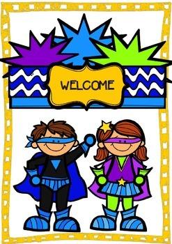 Classroom Superhero Welcome Sign