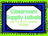Classroom Supply Labels.