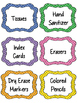 Classroom Supply Labels- 3 Polka Dot Designs