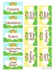 Classroom Supply Labels - Customizable - Jungle Safari Theme