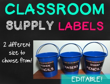 Classroom Supply Labels - {EDITABLE}