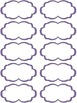 Classroom Supply Labels - Purple Stitches
